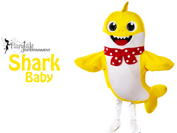 baby shark characters for kids birthday party entertainment