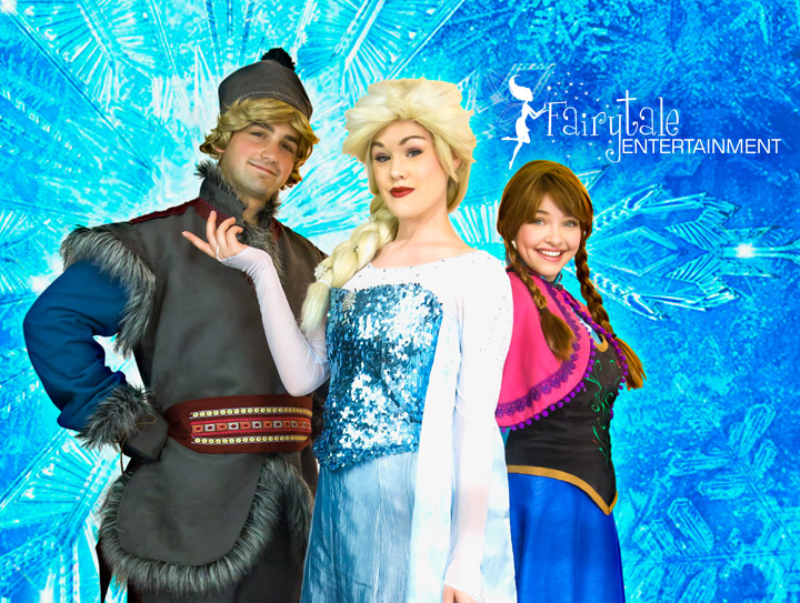 Hire Frozen Princesses for parties and events in Detroit Chicago and Grand Rapids
