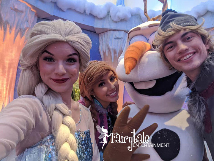 frozen characters hire elsa for birthday party
