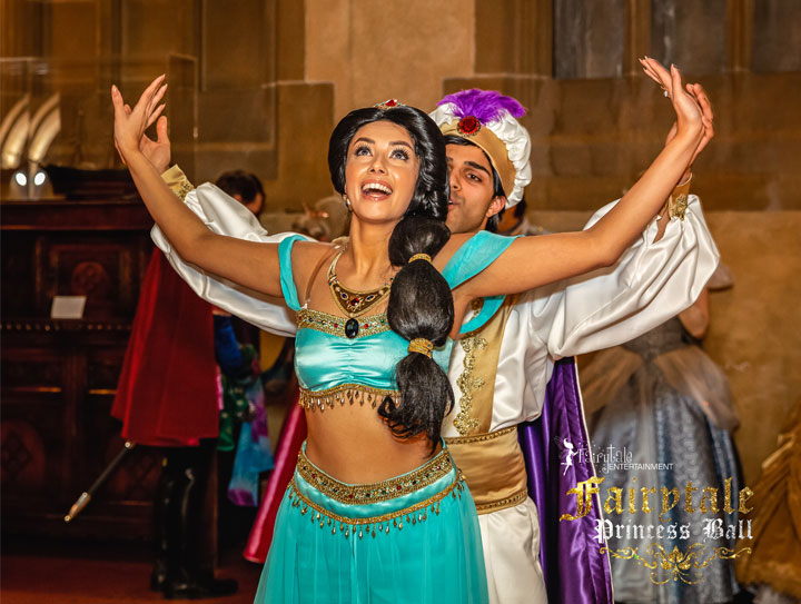 Hire Jasmine and Aladdin  Characters for Kids Party