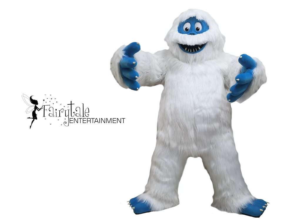 Rent Abominable Snow Monster and rudolph the red nosed reindeer, Hire Rudolph the red nosed reindeer characters for holiday event, Abominable Snowman Bumble rudolph the red nosed reindeer party characters