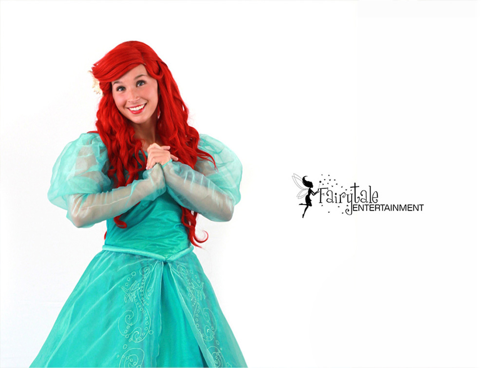 Little mermaid ariel princess party character for kids party