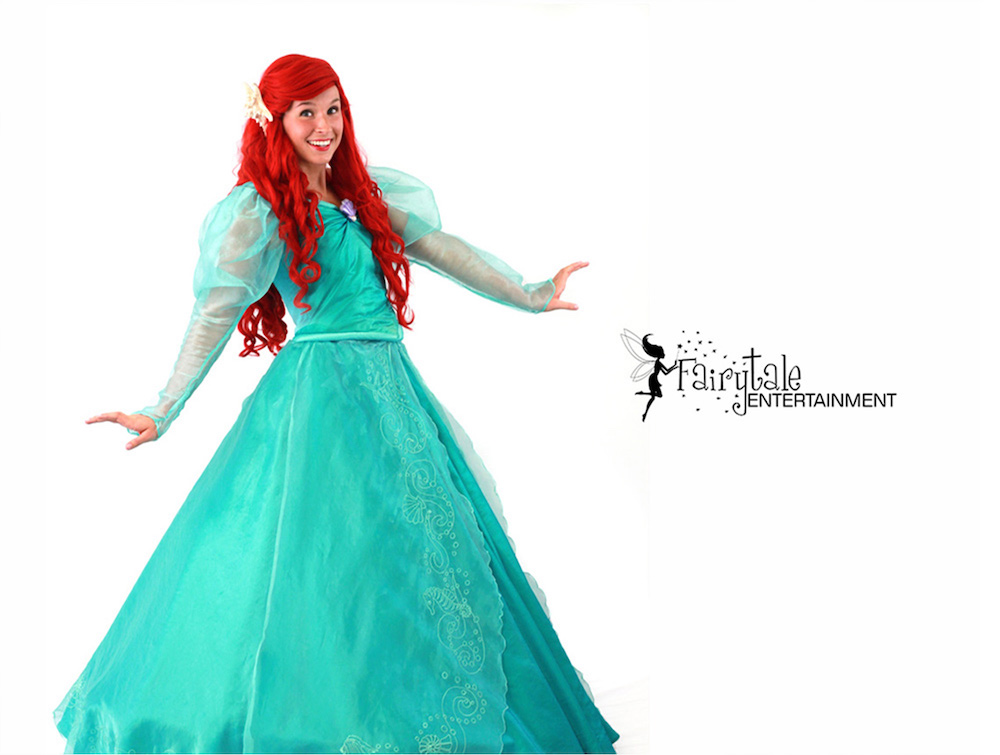 little mermaid ariel birthday party character