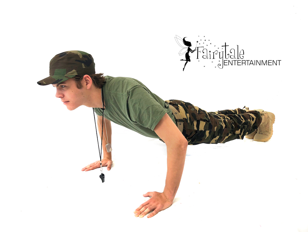 rent army guy for kids birthday party