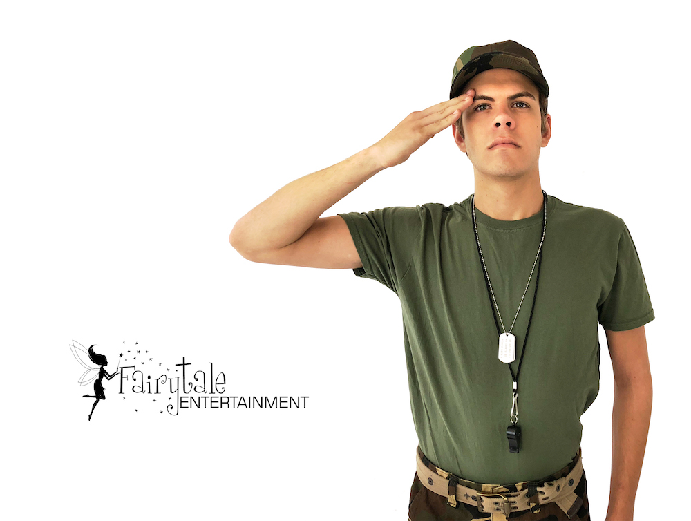 military soldier themed birthday party entertainment