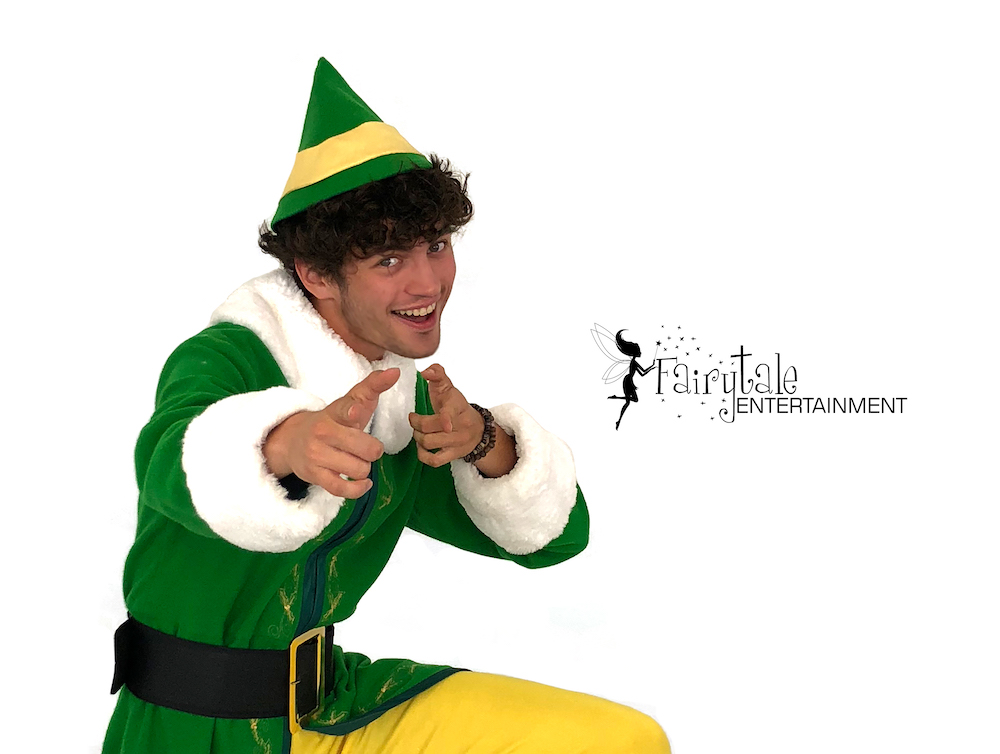 strolling holiday performers buddy the elf