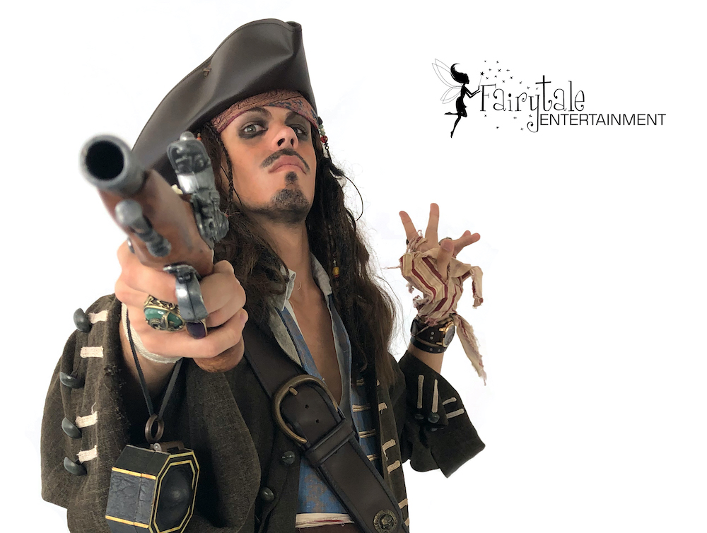 Pirates of the Caribbean party characters for hire