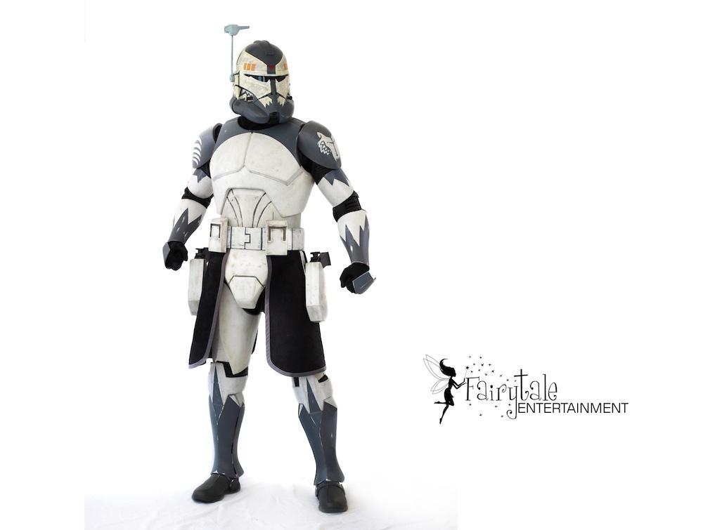 stormtrooper strolling performer