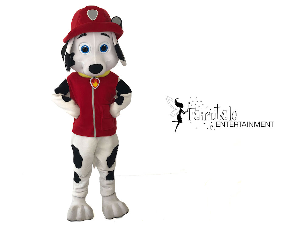 rent marshall from paw patrol for kids party in grand rapids michigan, paw patrol marshall party character for hire