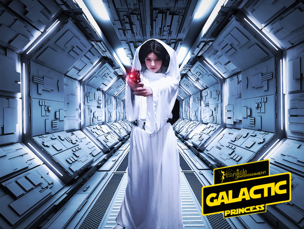 Hire Star Wars Princess Leia look alike character, Rent star wars princess leia for kids birthday party, star wars party characters for kids