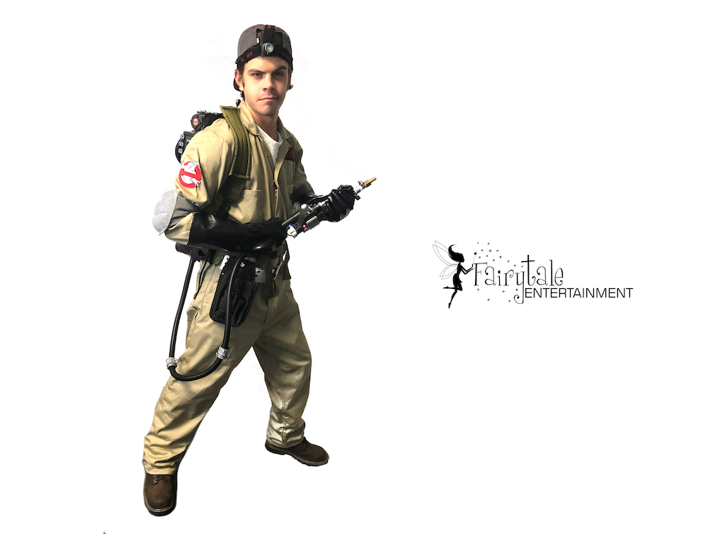 hire ghostbusters strolling halloween performers, rent ghostbuster party characters for halloween party, ghostbusters roaming halloween entertainers