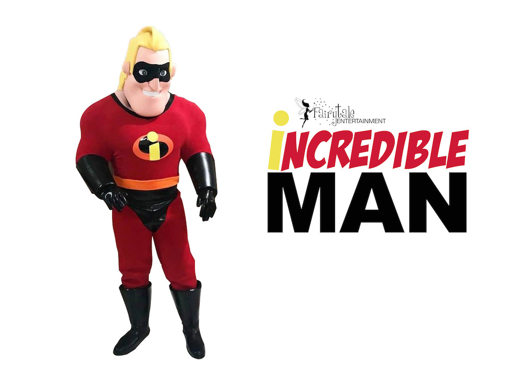 Mr Incredible Party Character for Kids, Disney Incredibles Birthday Party Characters, Hire Mr Incredible for Kids Birthday Party, Disney Incredibles Characters for Hire, Rent Incredibles Dad for Kids Birthday Party, Superhero Party Characters for Children