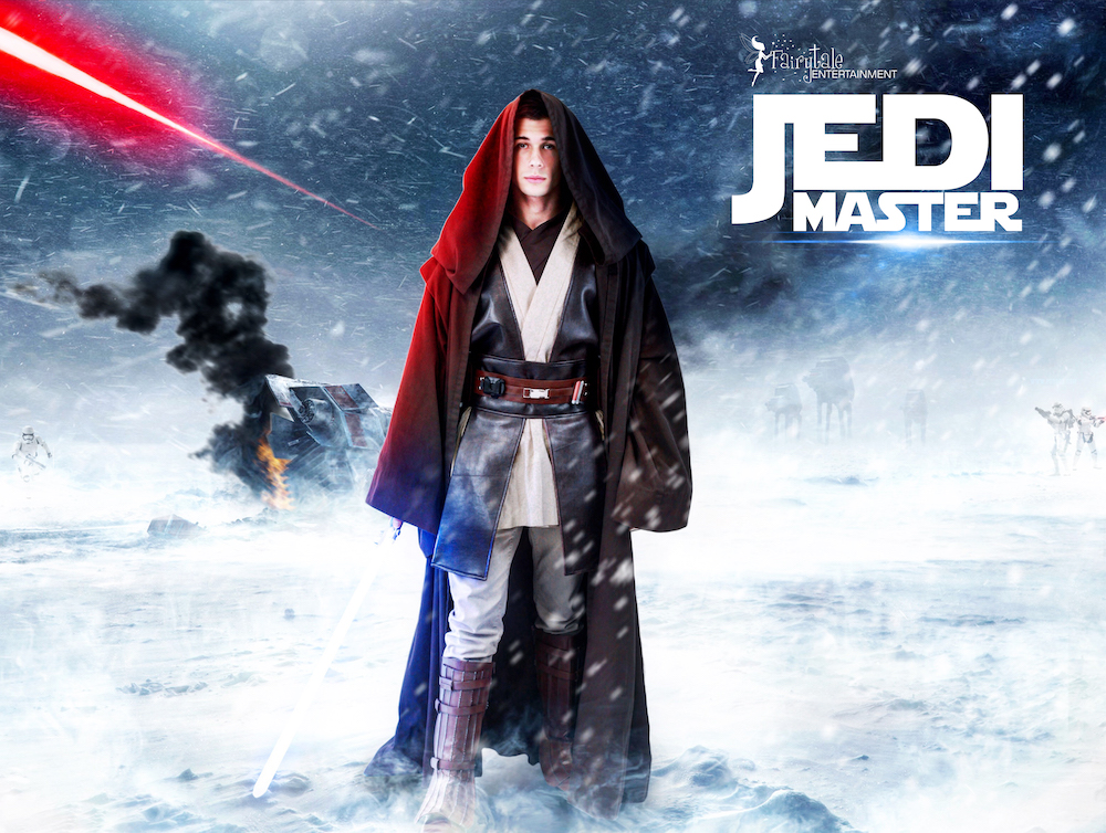 hire star wars jedi character for kids party