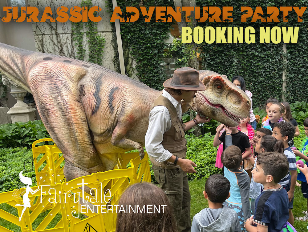 Jurassic Adventure Walking Dinosaur Rental for family entertainment in michigan and illinois