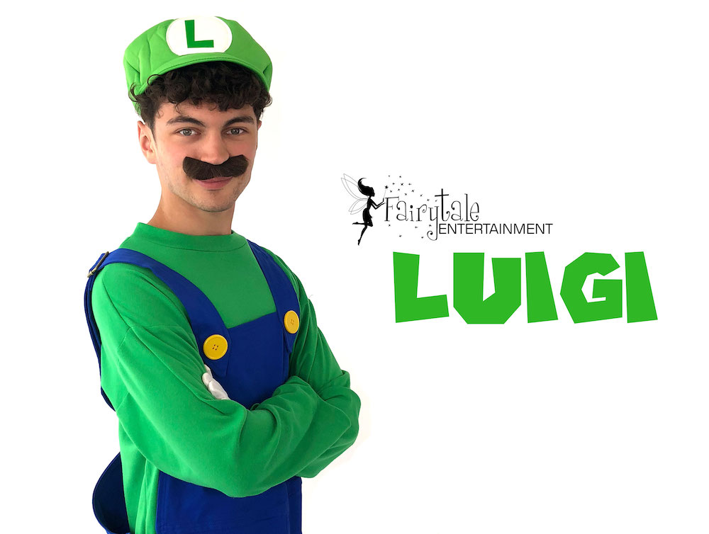 rent mario and luigi for kids birthday party, rent luigi party entertainer for kids birthday, hire luigi for kids birthday party