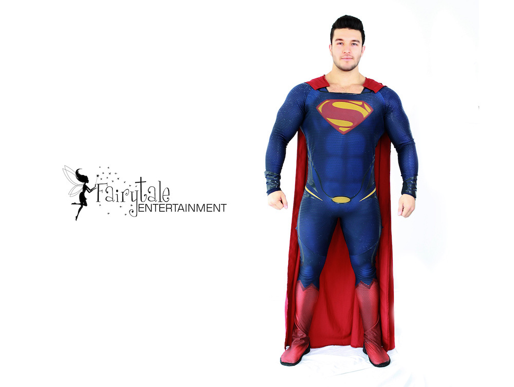 Man of Steel birthday party in Troy , dc characters for kids parties
