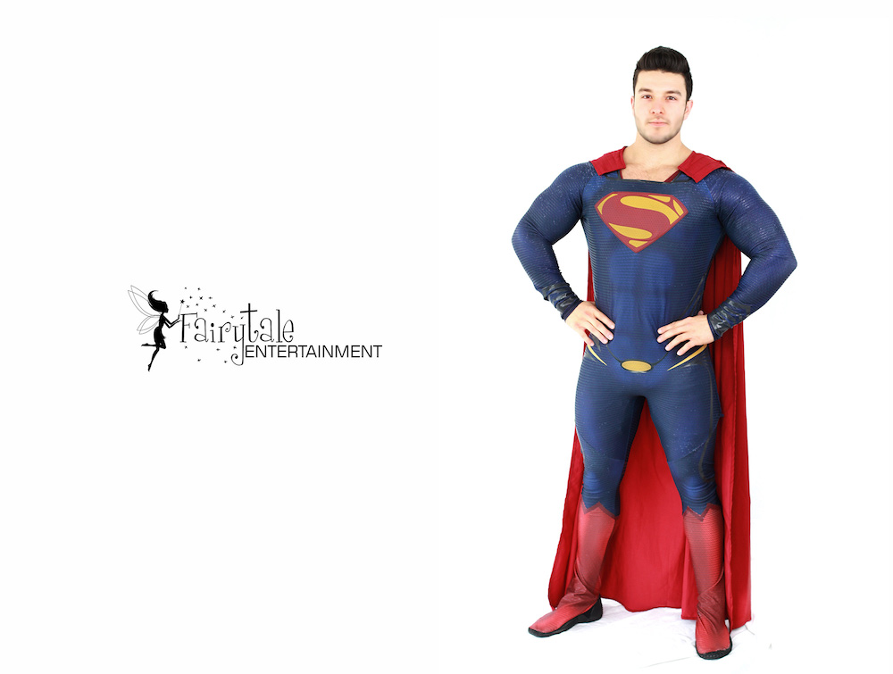 Man of Steel birthday party in Chicago,justice league characters for kids birthday party