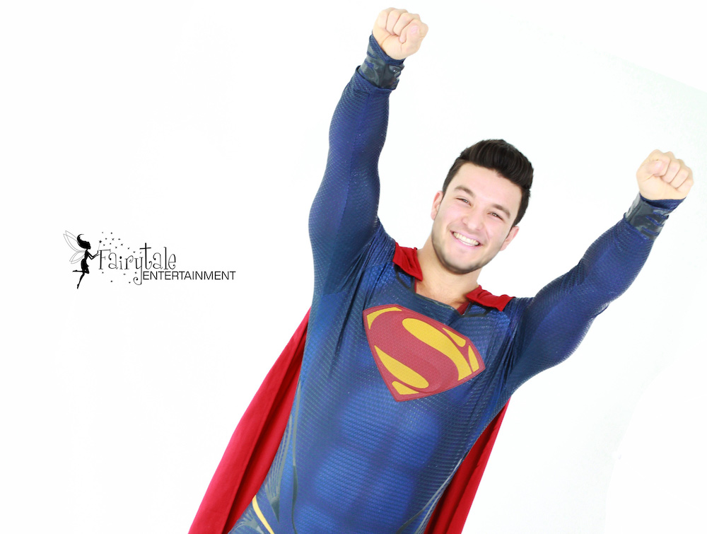 hire superman party character for kids