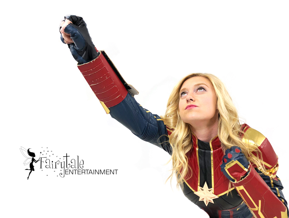 Captain Marvel Birthday Party Character for Rent