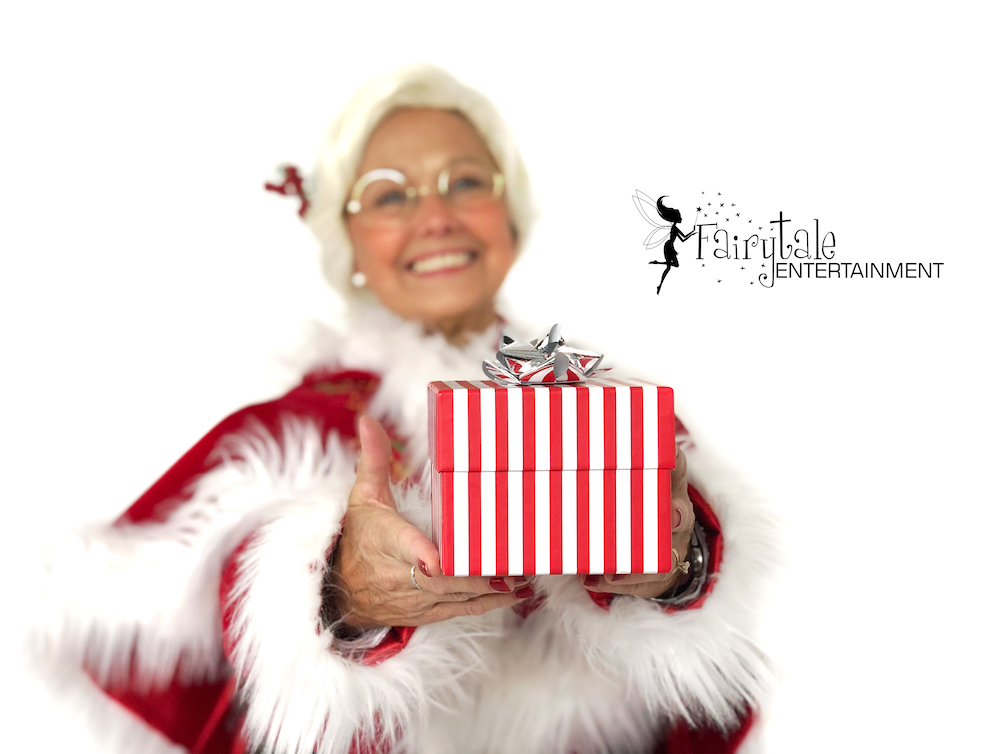 rent mrs claus for christmas holiday party, hire santa and mrs claus for holiday event