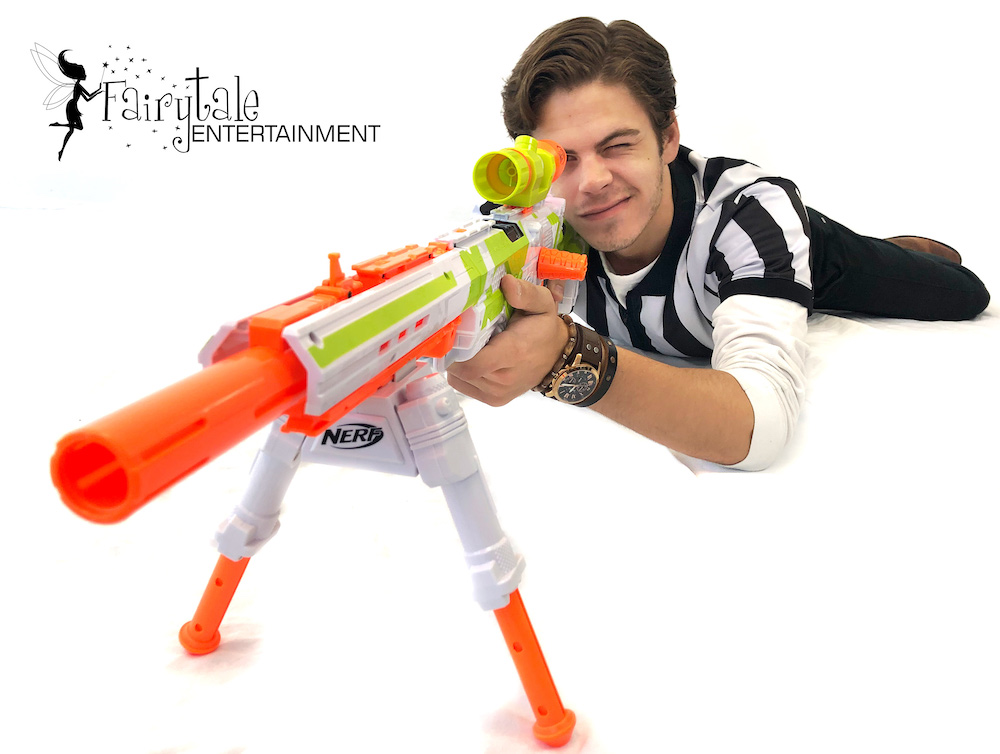 Nerf War Party Locations in Grand Rapids, party characters for hire