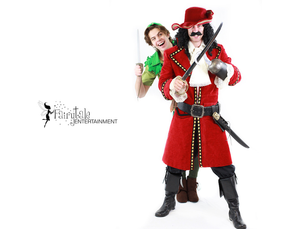 rent captain hook and peter pan for kids birthday party