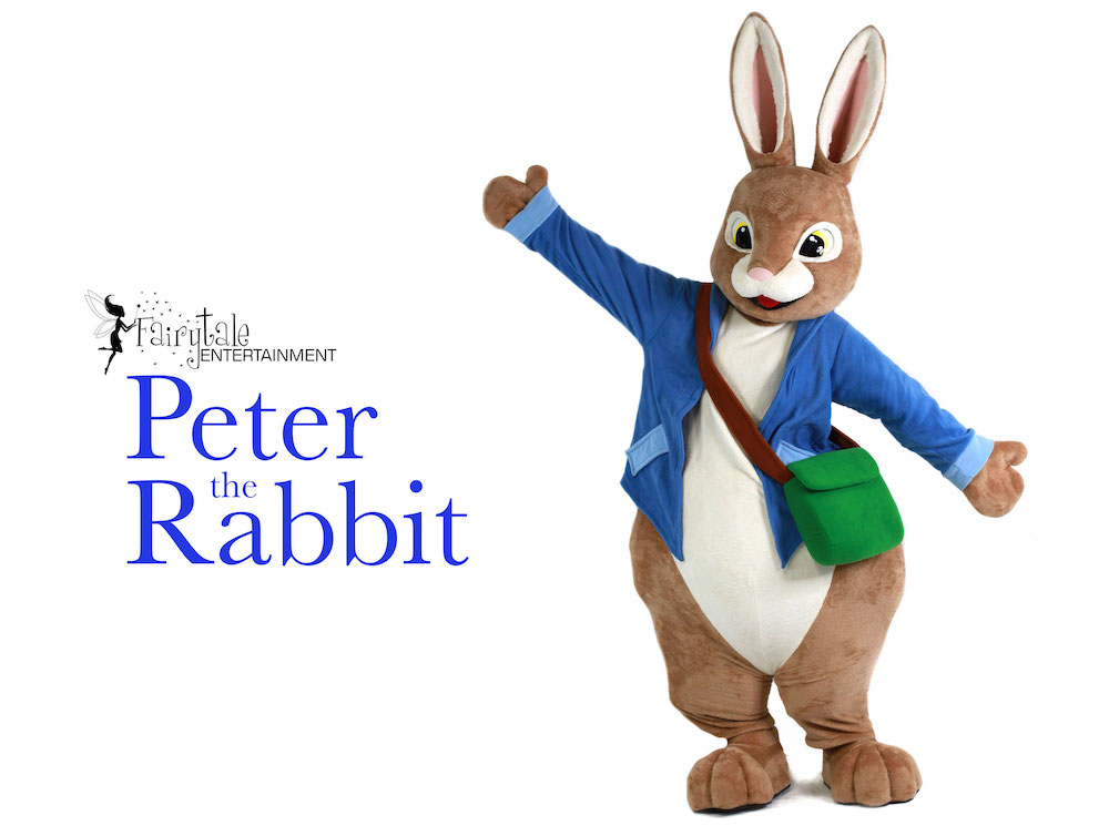 peter rabbit movie character for hire