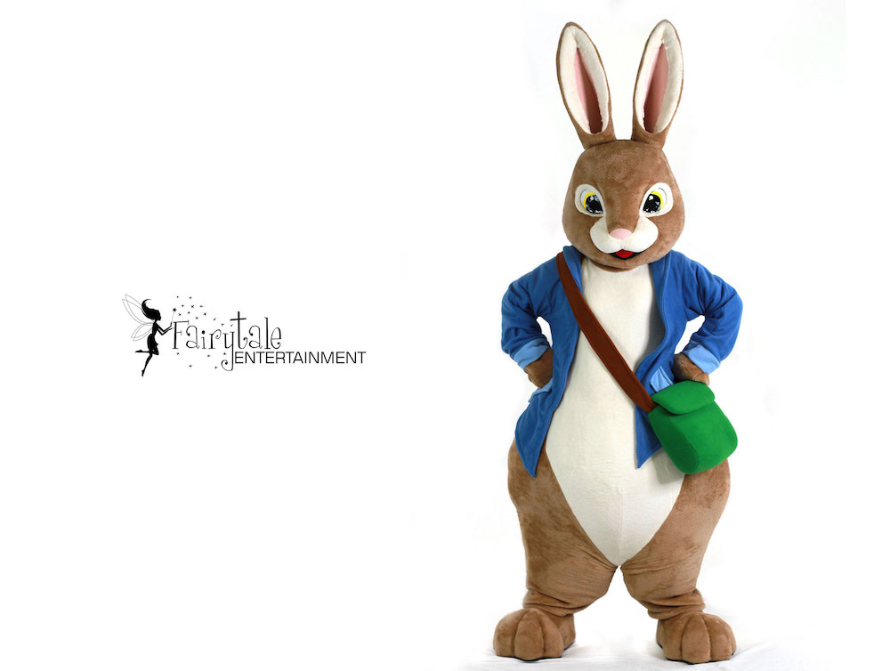 hire peter rabbit character for kids
