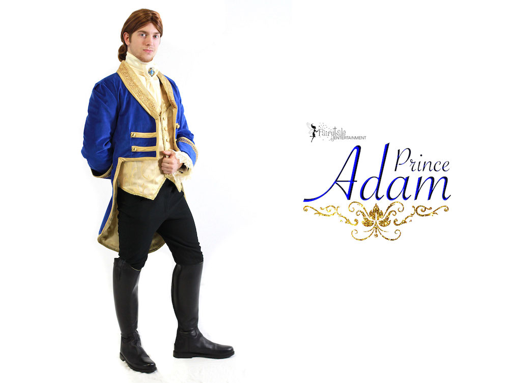 Hire Prince Adam Character Performer for Kids, Hire Prince Adam and Belle for Kids Party