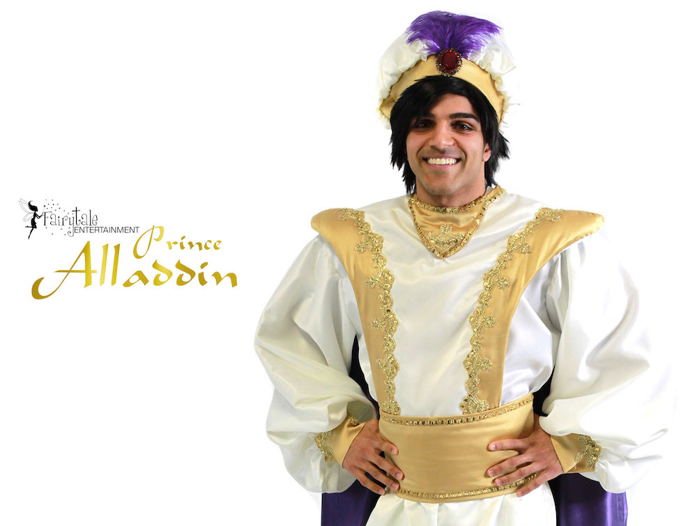 Prince Aladdin Party Character for Kids, Prince Ali and Princess Jasmine Party Characters for Hire