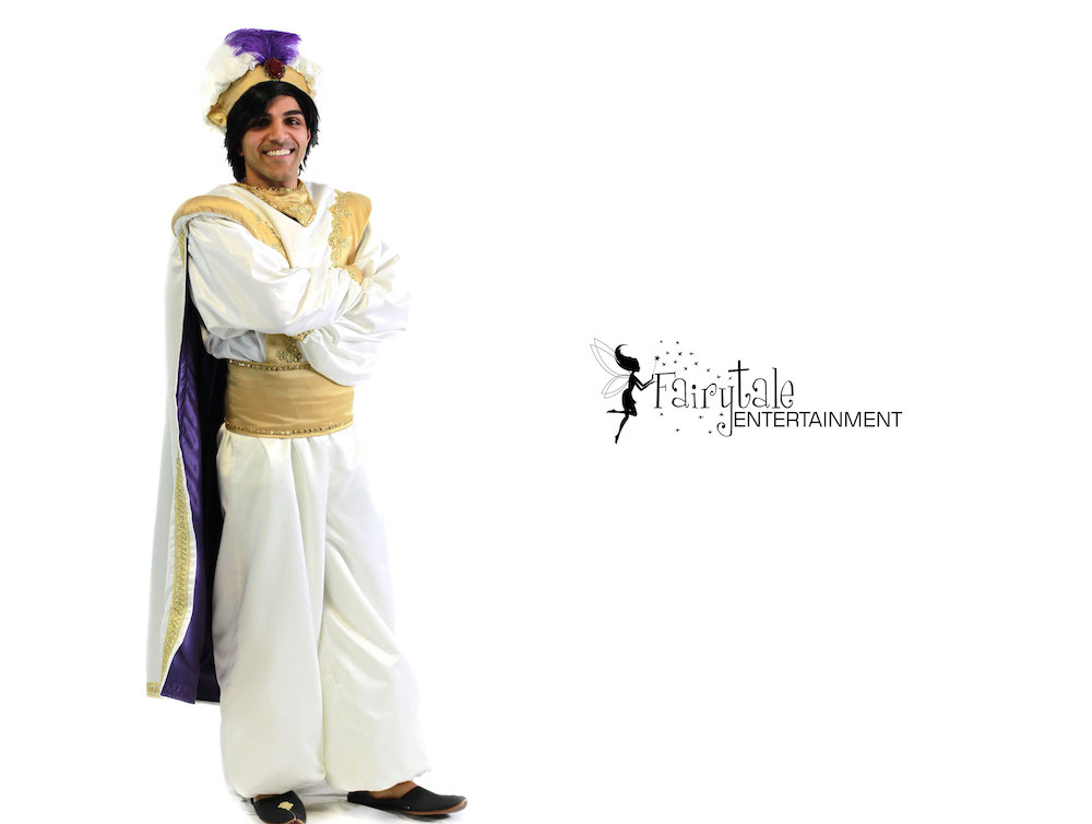 Aladdin Character Performer, Hire Aladdin Entertainer for Kids Parties, Rent Aladdin and Jasmine for Kids Birthday Party