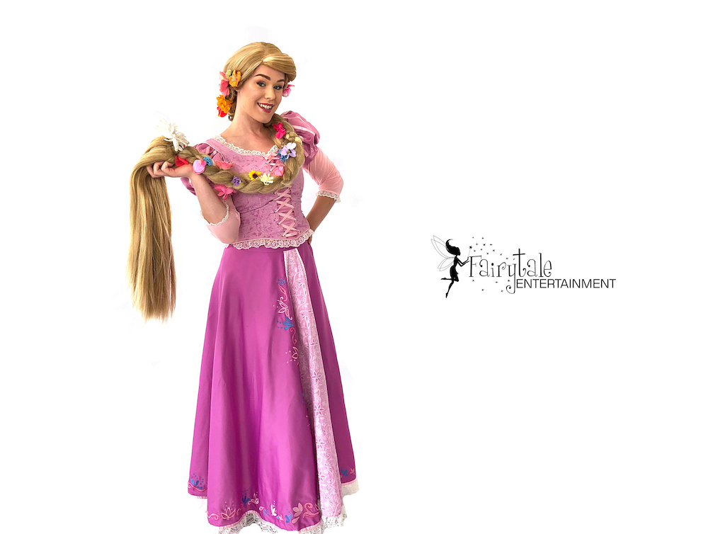 rapunzel princess party character entertainment for birthday party