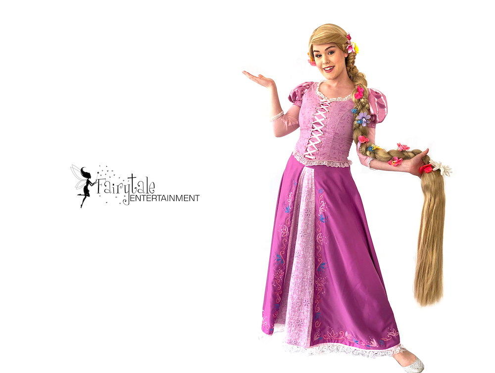 rapunzel birthday party character visit