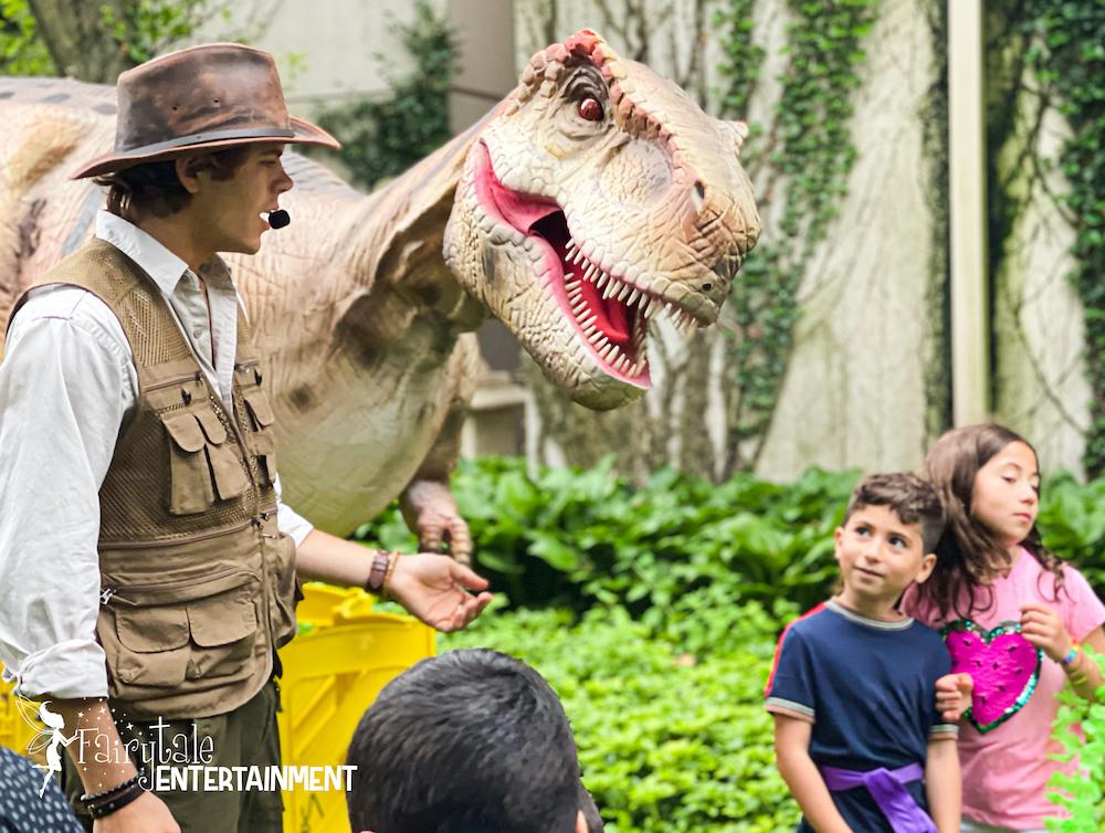 Jurassic Adventure Walking Dinosaur Rental for family entertainment in michigan and illinois