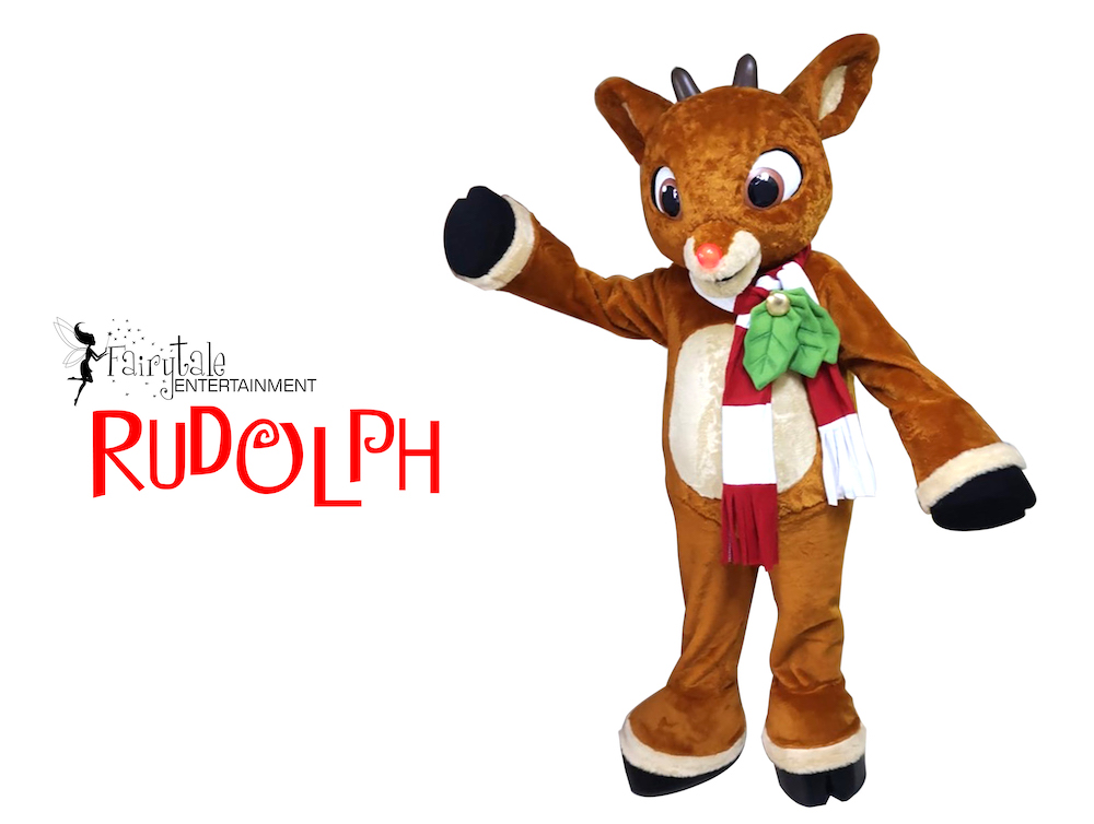 Rent Rudolph the Red Nosed Reindeer, Hire rudolph the red nosed reindeer, Rent Christmas party characters for kids