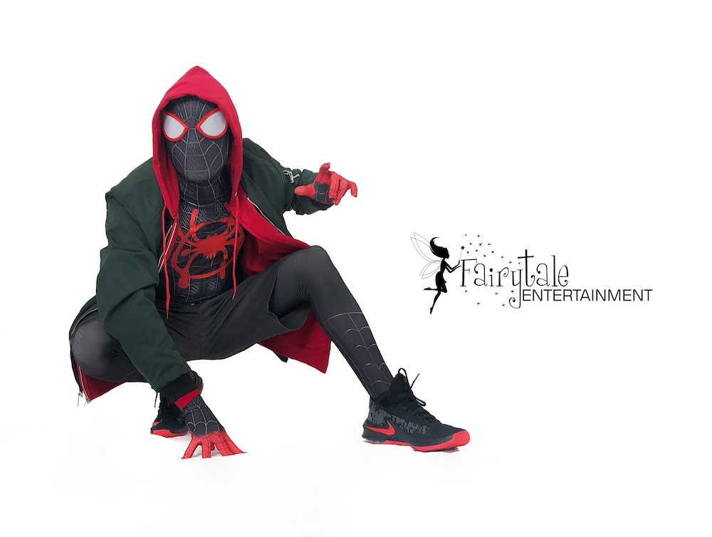 hire spider-man miles morales spider-verse party character Grand Rapids