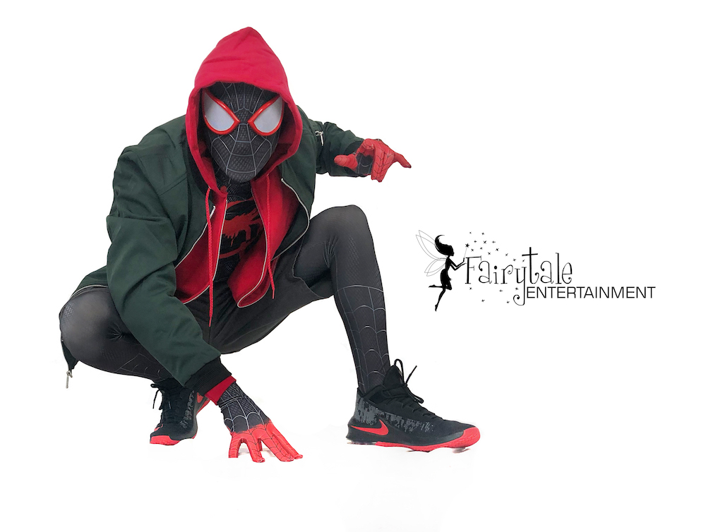 rent miles morales spiderman for kids birthday party