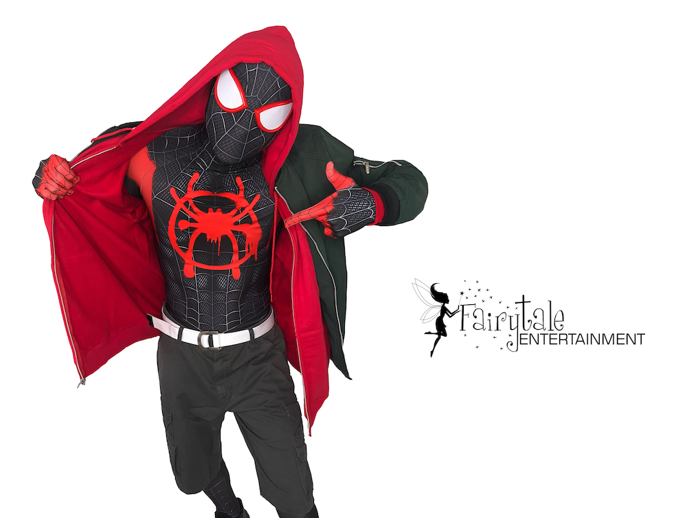 spider-verse miles morales performer for kids party