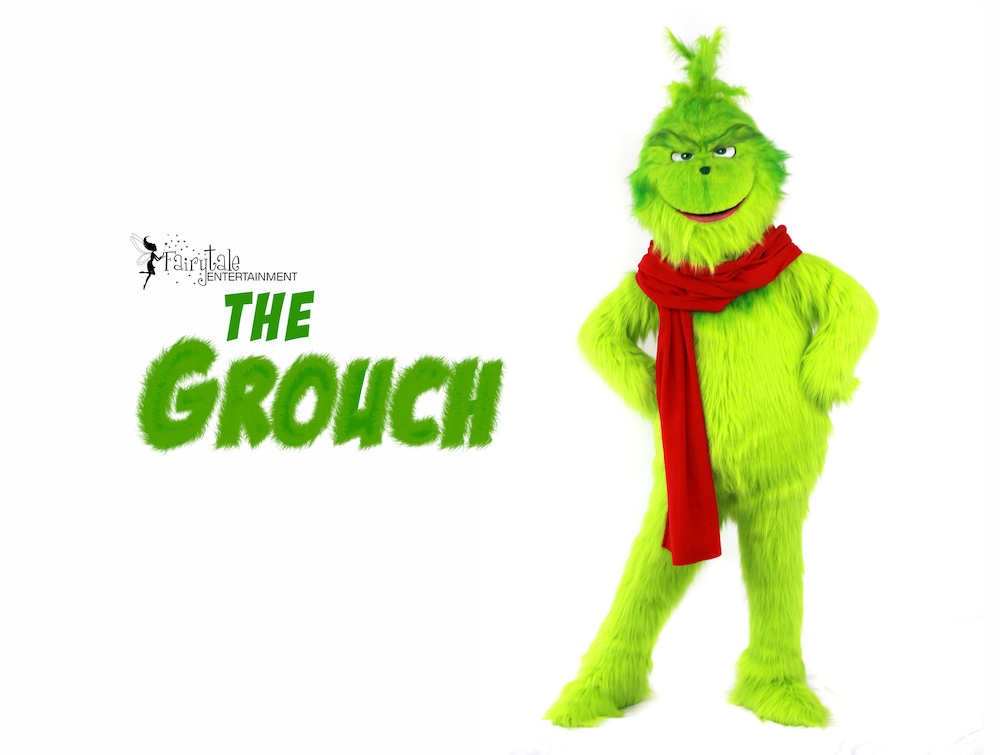 Hire Grinch Performer, Rent the Grinch for Christmas Party, Grinch Character Performer, Grinch Character for Christmas Party, Entertainment for Corporate Christmas Party