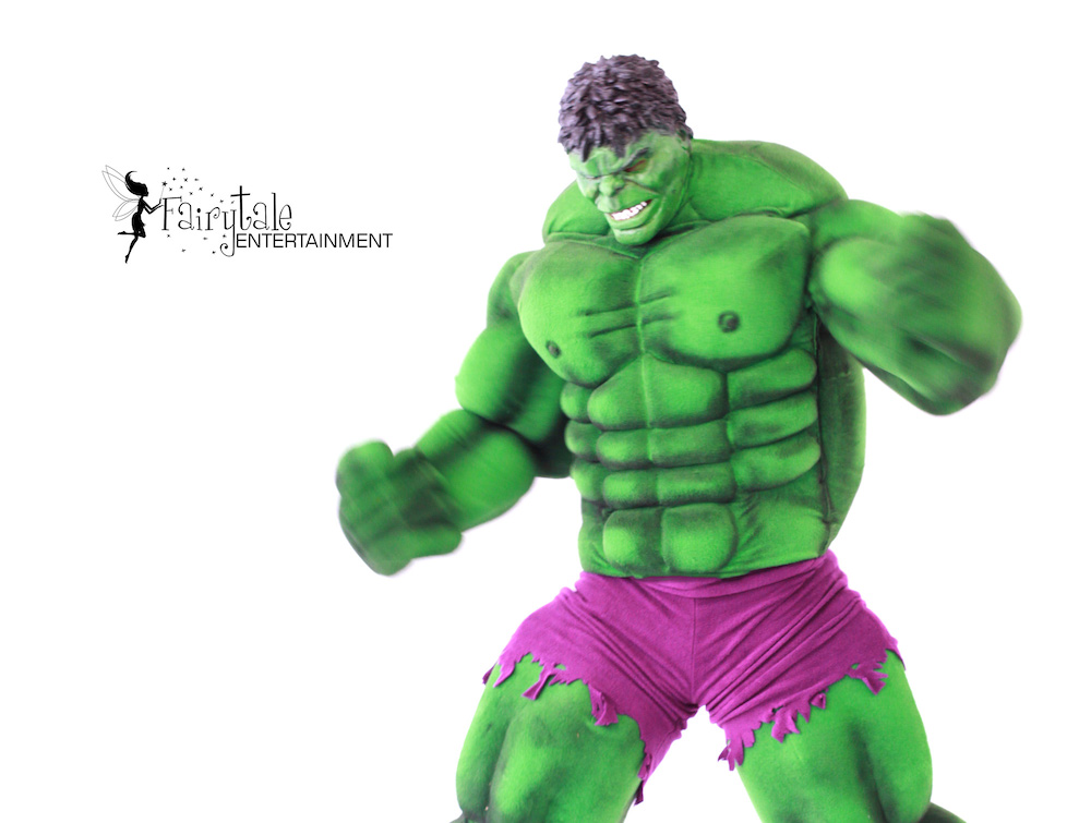 Hulk Birthday Party Characters, Hire Hulk Character for Superhero Party