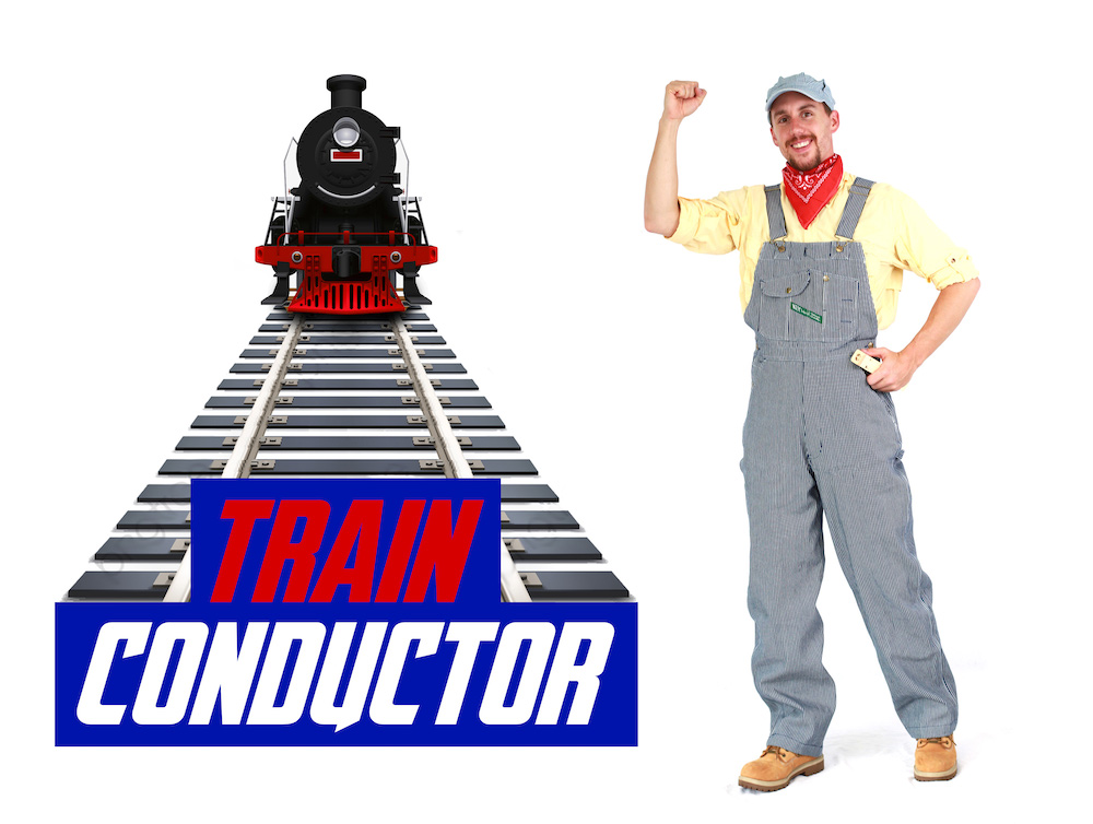 Rent Train Conductor Party Character for Kids
