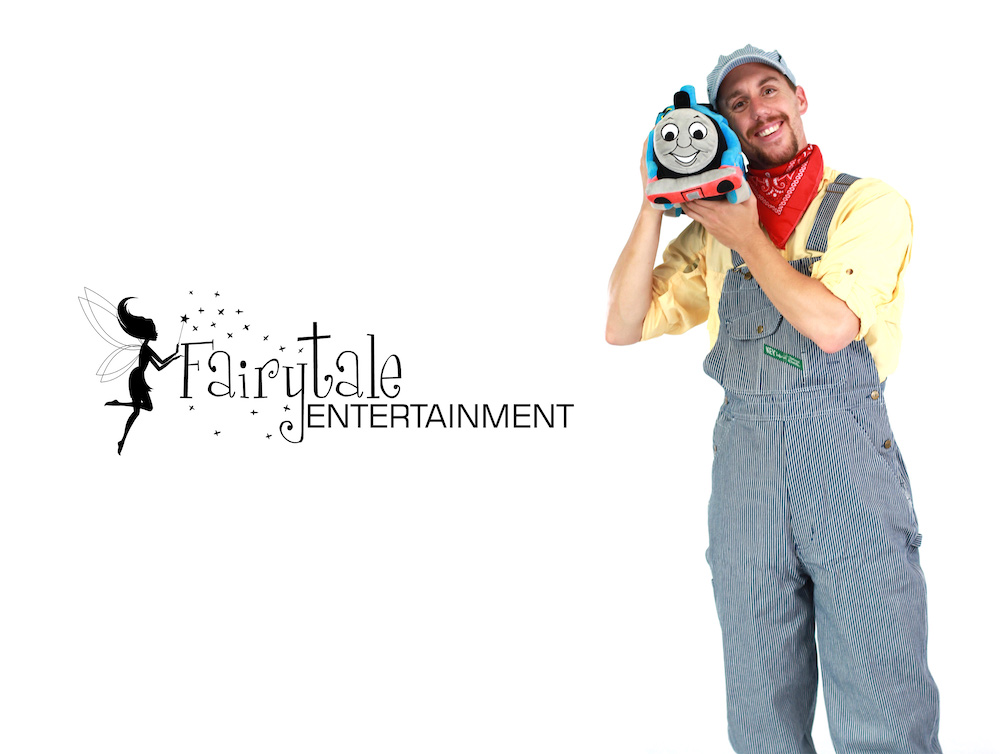 Rent Train Conductor Party Character for Kids Grand Rapids