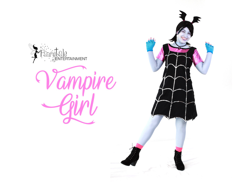 Vampirina Party Character for Kids, Vampirina Birthday Party Character, Vampirina Character for Hire, Rent Vampirina Character Performer, Vampirina Character for Hire, Hire Vampirina for Kids Halloween Party, Kids Halloween Party Entertainment