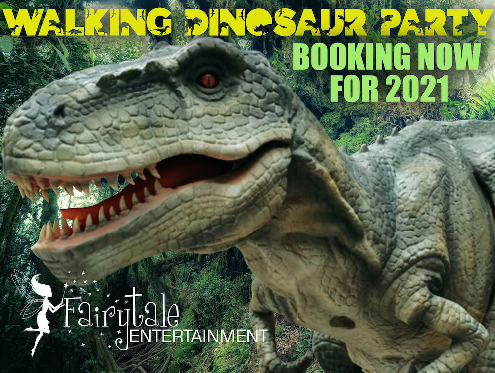 Walking Dinosaur Rental for event entertainment in michigan and illinois
