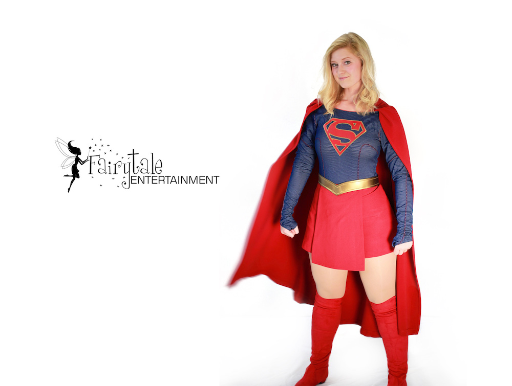 Supergirl character for hire, Rent supergirl performer for birthday party