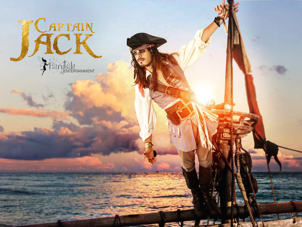Hire Jack Sparrow Pirate Party Character for Kids