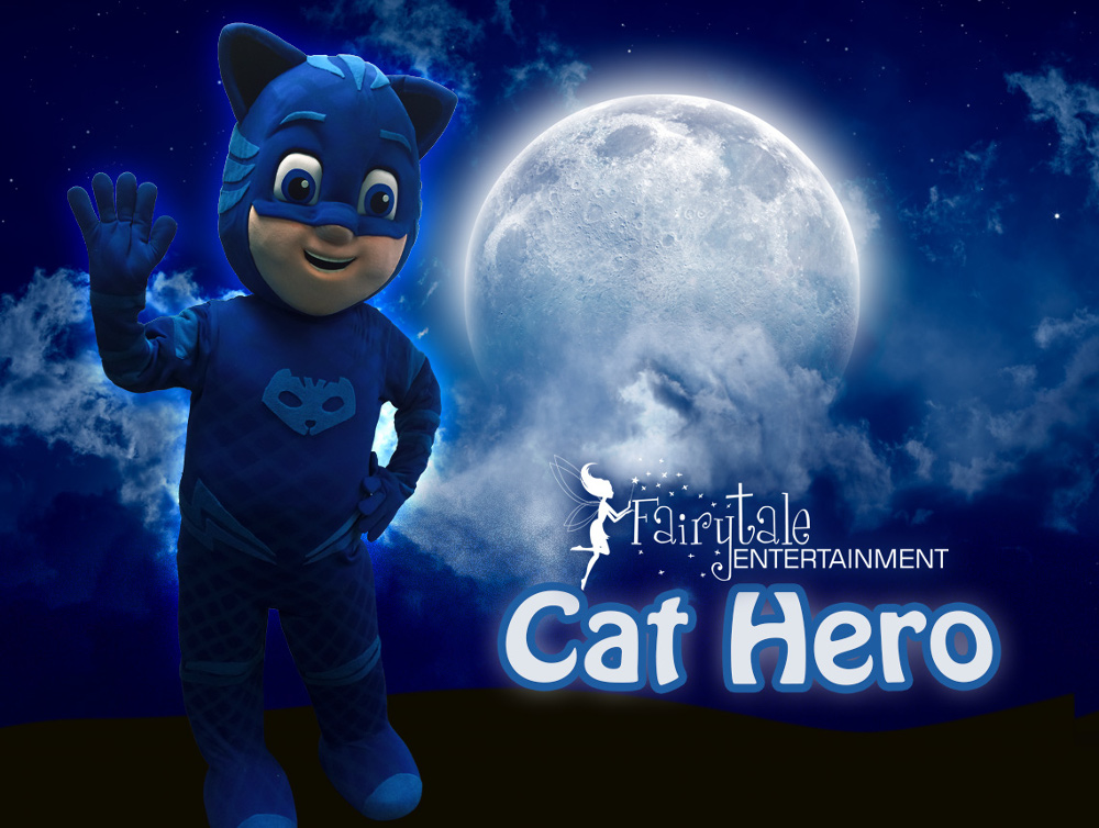 Rent pj masks catboy for kids birthday party, hire pj masks catboy party character for kids