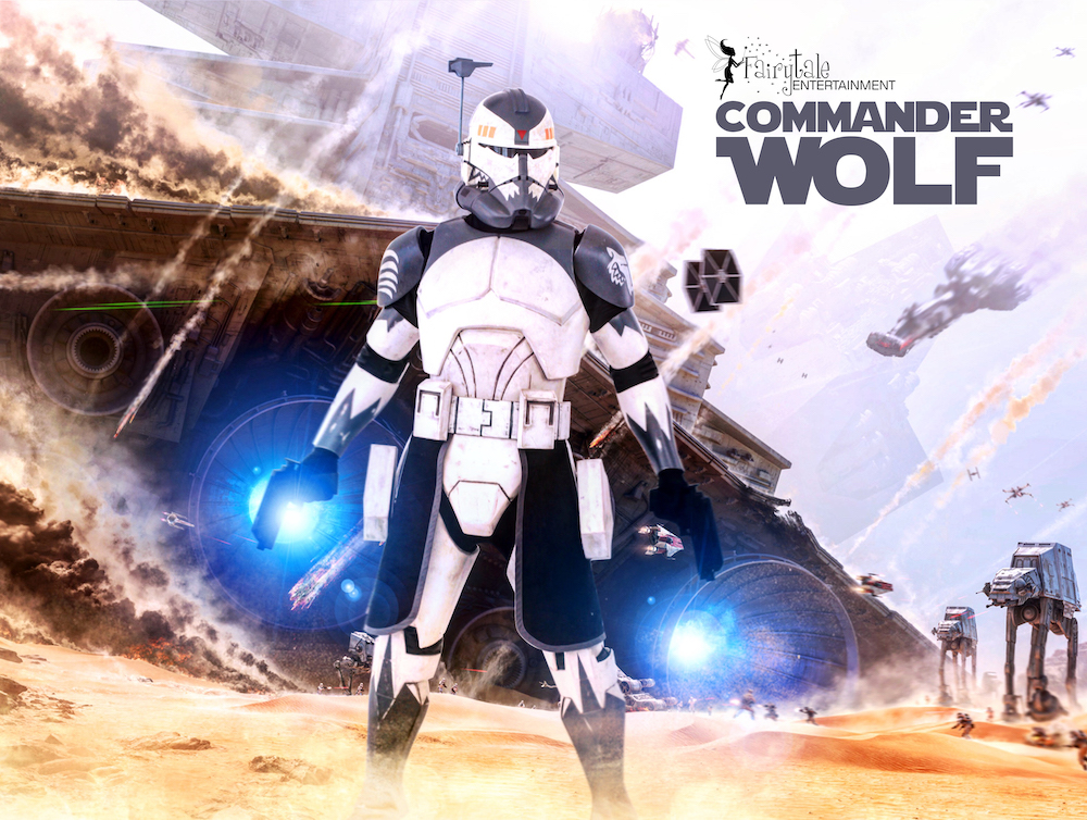 rent star wars commander wolf party character