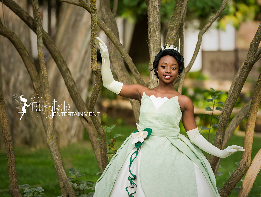 hire princess tiana for girls birthday party