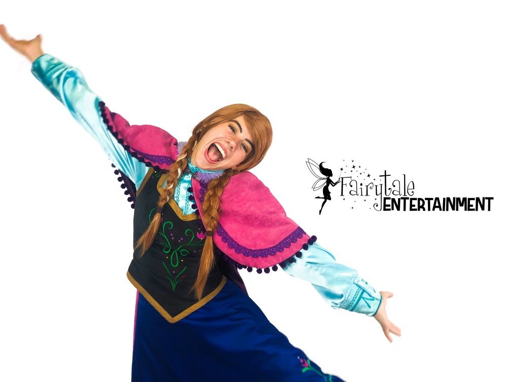 frozen anna princess party character fairytale entertainment